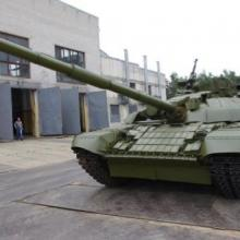 Tank T-72B1-1050 with upgraded explosive-reactive armor